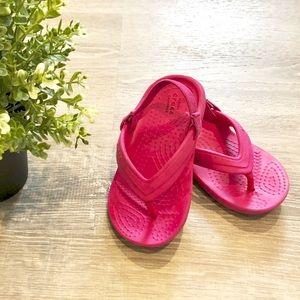 CROCS Toddler Girl Size 7 Pink Sandals